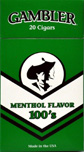 Gambler Filtered Cigar Menthol 100 Box