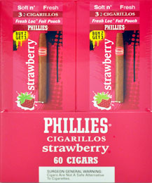 PHILLIES CIGARILLOS DOUBLE STRAWBERRY 3 FOR 2