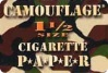 GI JAYS CAMOUFLAGE 1 1/2 CIGARETTE PAPERS 25CT BOX