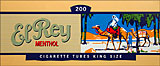 EL REY MENTHOL FILTER CIGARETTE TUBES - 200CT