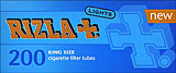 RIZLA+ KING SIZE LIGHT FILTER CIGARETTE TUBES - 200CT