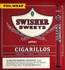 SWISHER SWEETS CIGARILLOS FOIL WRAPPED 60CT BONUS BOX