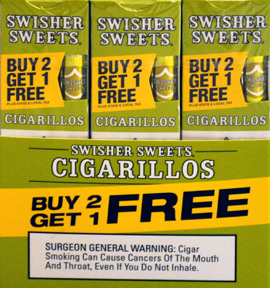 SWISHER SWEETS CIGARILLOS FOIL WHITE GRAPE 30/3PKS