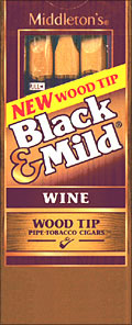 "BLACK & MILD ""WINE"" WOOD TIP CIGARS 10/5PKS"