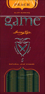 GARCIA Y VEGA GAME CIGARILLOS PEACH- 50CT 5/10pks