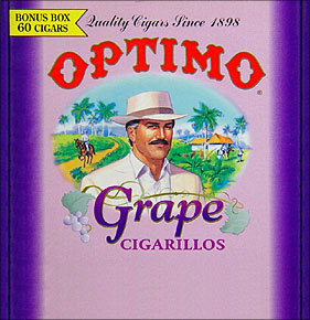 OPTIMO CIGARILLO - GRAPE 60CT BOX