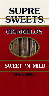 SUPRE SWEETS CIGARILLOS - SWEET 'N MILD - 5CT.