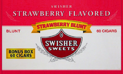 SWISHER SWEETS BLUNT STRAWBERRY 60CT BOX