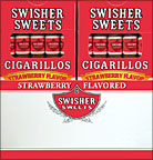 SWISHER SWEETS CIGARILLOS STRAWBERRY 20/5PKS