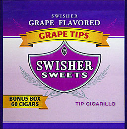 Swisher Sweets Tip Cigarillos Grape 60ct Box