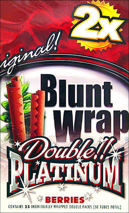 BLUNT WRAP DOUBLE PLATINUM - BERRIES - 25 PACKS OF 2