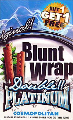 BLUNT WRAP DOUBLE PLATINUM - COSMOPOLITAN - 25 PACKS OF 2