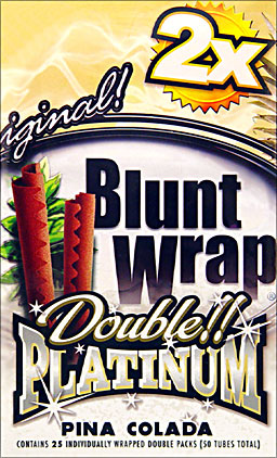BLUNT WRAP DOUBLE PLATINUM - PINA COLADA - 25 PACKS OF 2