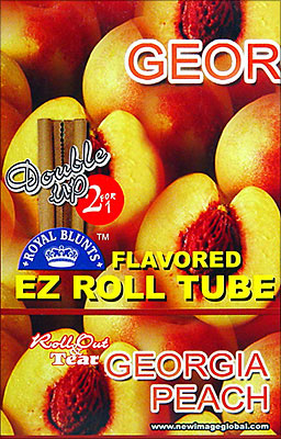ROYAL BLUNTS EZ ROLL TUBE GEORGIA PEACH - 25 2/PKS