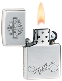 ZIPPO H-D WIRE - SATIN SILVER