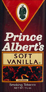 Prince Albert Soft Vanilla Pipe Tobacco 6 - 1.5oz Packs