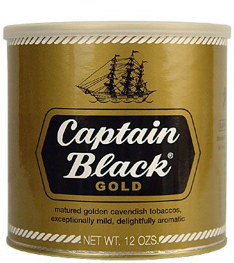 Captain Black Gold Pipe Tobacco 12oz Can