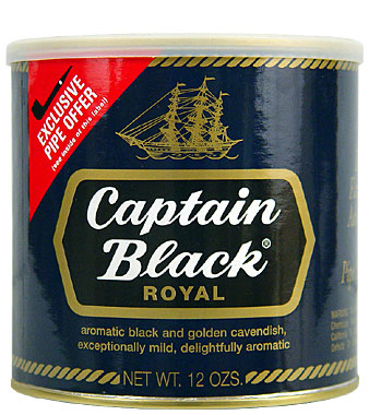 Captain Black Royal Blue Pipe Tobacco 12oz Can