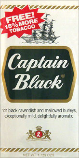 Captain Black Pipe Tobacco 6 - 1.5oz Packs