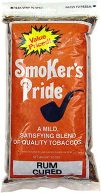 Smoker's Pride Pipe Tobacco Rum Cured 12oz Bag