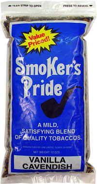 Smoker's Pride Pipe Tobacco Vanilla Cavendish 12oz Bag