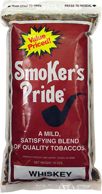 Smoker's Pride Pipe Tobacco Whiskey Blend 12oz Bag