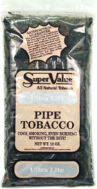 Super Value Ultra Lite Pipe Tobacco 12oz Bag
