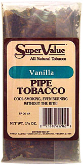 Super Value Vanilla Pipe Tobacco 6 - 1.5oz Packs