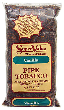 Super Value Vanilla Pipe Tobacco 12oz Bag