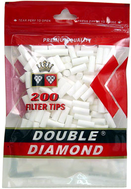 Double Diamond Filter Tips - 100ct Bag