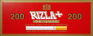 RIZLA+ KING SIZE FILTER CIGARETTE TUBES - 200CT