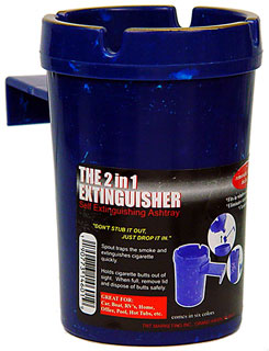 The 2 In 1 Extinguisher (Self Extinguishing Ashtray)
