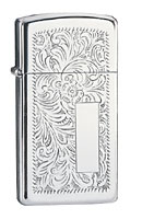 ZIPPO SLIM VENETIAN - HIGH POLISH CHROME