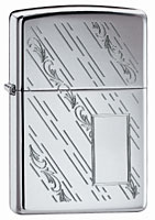ZIPPO FALLING LEAVES - HIGH POLISH CHROME
