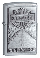 ZIPPO AMERICAN LEGEND EMBLEM - STREET CHROME