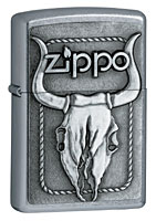 ZIPPO BULL SKULL - STREET CHROME