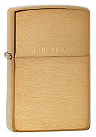 ZIPPO SOLID BRASS - BRUSHED BRASS
