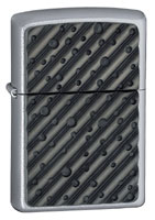 ZIPPO BUCKSHOT EMBLEM - SATIN CHROME