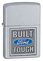 ZIPPO BUILT FORD TOUGH - SATIN CHROME
