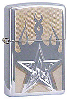 ZIPPO FIRE STAR - HIGH POLISH CHROME