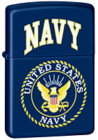 ZIPPO U.S. NAVY - BLUE MATTE