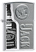 ZIPPO JACK DANIELS - ARMOR HIGH POLISH CHROME
