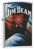 ZIPPO JIM BEAM BARRELS - HIGH POLISH CHROME