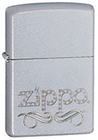 ZIPPO SCROLL - SATIN CHROME