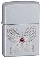 ZIPPO BL BFY - SATIN CHROME
