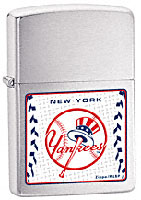 ZIPPO MLB NEW YORK YANKEES - BRUSHED CHROME