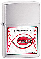 ZIPPO MLB CINCINNATI REDS - BRUSHED CHROME