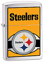 ZIPPO NFL PITTSBURGH STEELERS - BRUSHED CHROME