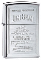 ZIPPO JIM BEAM SILHOUETTE - HIGH POLISH CHROME