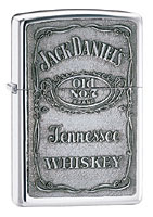 ZIPPO JACK DANIELS LABEL - PEWTER EMBLEM